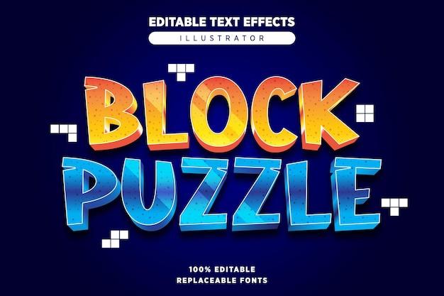 Blokpuzzel teksteffect bewerkbaar