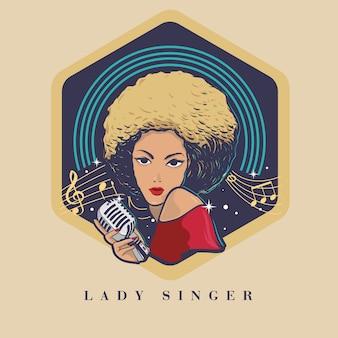Blond haar en zwarte huid dame zanger