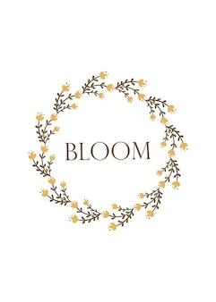 Bloom - wenskaartsjabloonontwerp. vector illustratie.