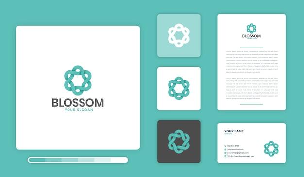 Blossom logo ontwerpsjabloon