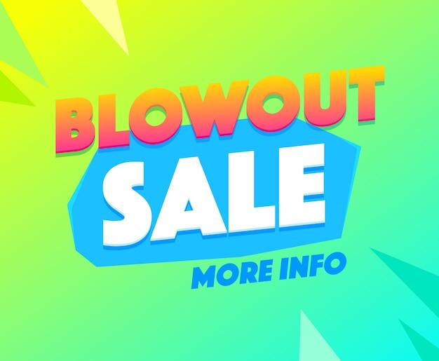 Blowout verkoop banner. sjabloon voor spandoek verkoop, speciale aanbieding mega verkoop. super speciale aanbieding