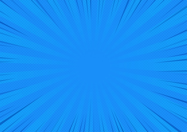 Blue abstract comic book background cartoon-stijl. bigbamm of zonlicht. vector illustratie.