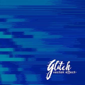 Blue abstract glitch achtergrond ontwerp
