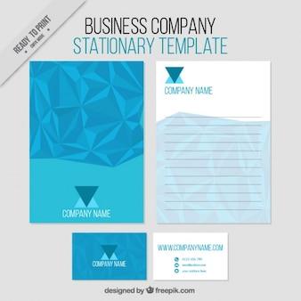 Blue abstract zakelijke briefpapier template