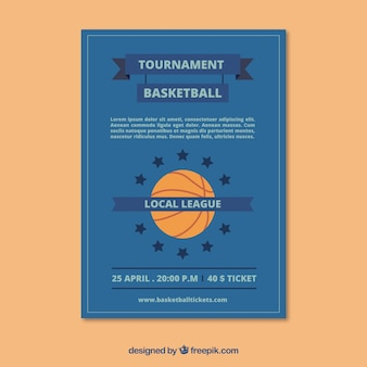 Blue basketbal brochure