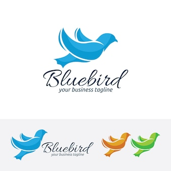 Blue bird, logosjabloon