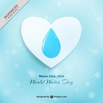 Blue bokeh wereld water dag achtergrond
