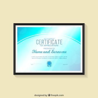 Blue certificaat van prestatie
