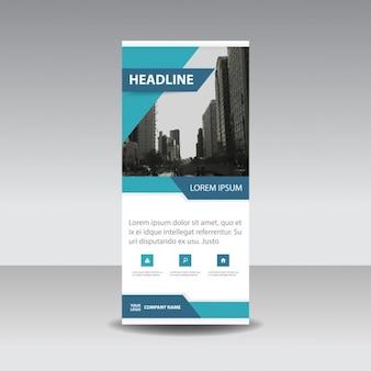 Blue creatieve roll up banner template