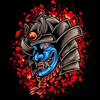 Blue devil samurai japan