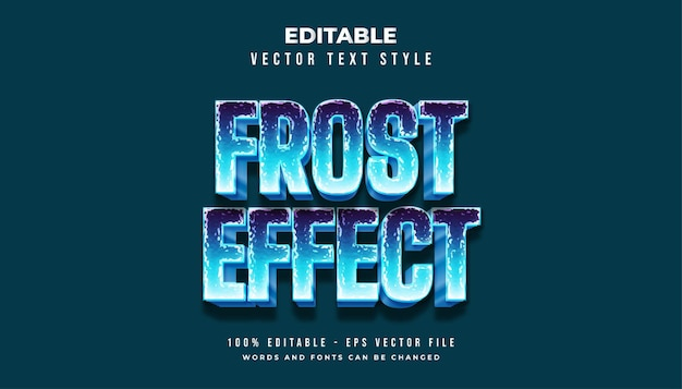 Blue frost-tekststijl met freeze cold-effect