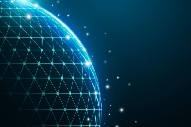 Blue globe digitale rastertechnologie zakelijke achtergrond
