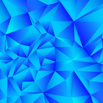 Blue gradient polygon abstract background