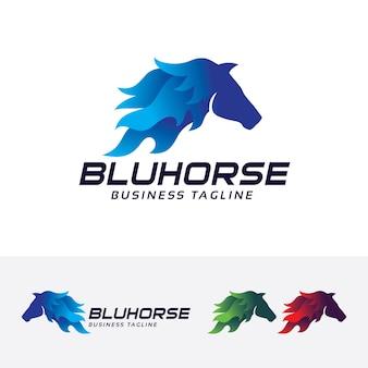 Blue horse, logosjabloon