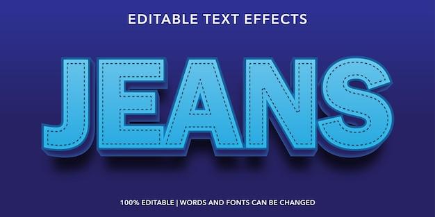 Blue jeans bewerkbaar teksteffect