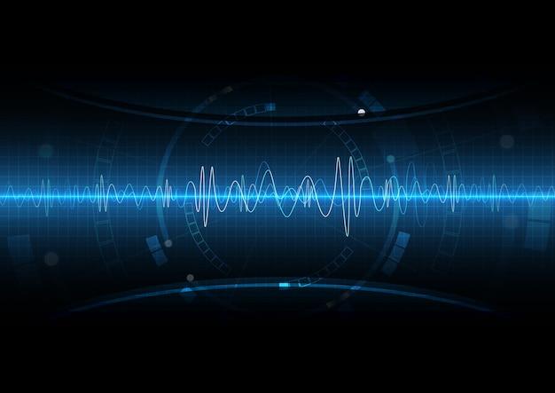 Blue light circuit geluidsgolf digitale technologie