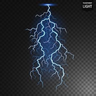 Blue lightning flash bolt vector