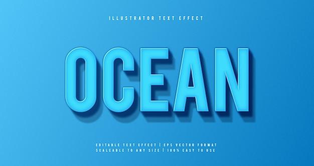 Blue ocean tekststijl lettertype-effect