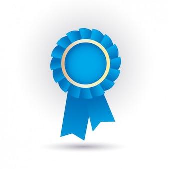 Blue ribbon icon