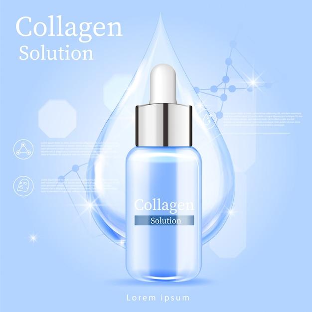 Blue serum gezichtsbehandeling essentie huidverzorging cosmetisch.