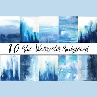 Blue waterverfachtergronden
