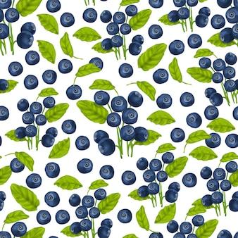 Blueberry naadloze patroon