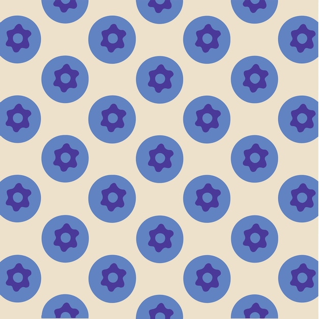 Blueberry patroon achtergrond social media post fruit vector illustration