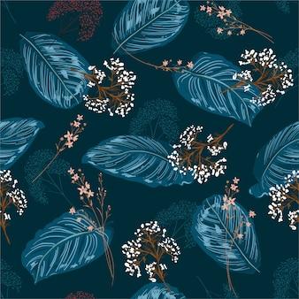 Blueleaves patroon