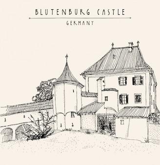 Blutenburg kasteel achtergrond ontwerp