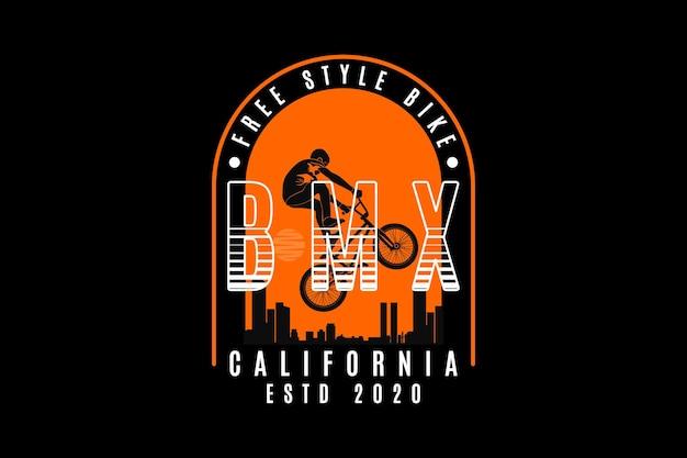 .bm-fiets in vrije stijl, ontwerp sleety-stijl