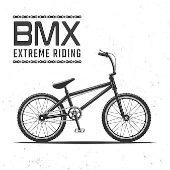 Bmx-fiets voor extreme sporten die vectorillustratie berijden