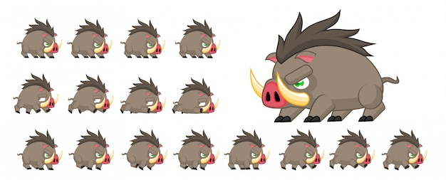 Boar game sprite