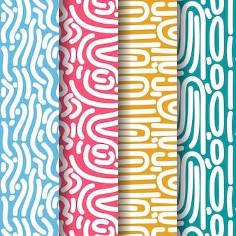 Bochtige lijnen naadloze patroon sjabloon