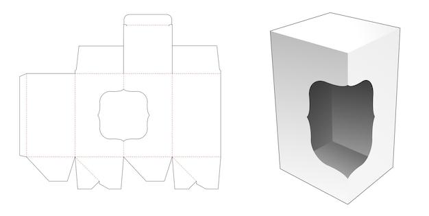 Bodemdoos met automatische vergrendeling en sjabloon voor gestanst venster