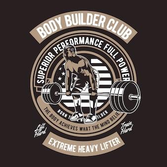 Body builder club-badge