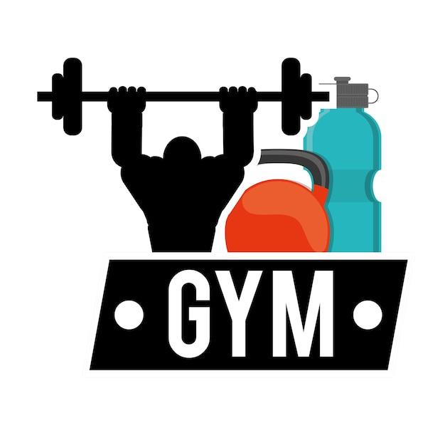 Bodybuilder fitness water kettlebell