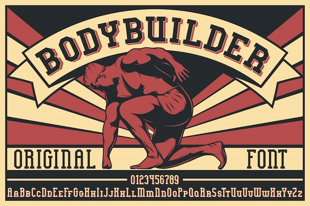 Bodybuilder label lettertype