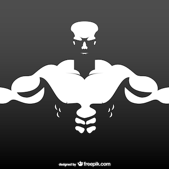 Bodybuilder vrije illustratie