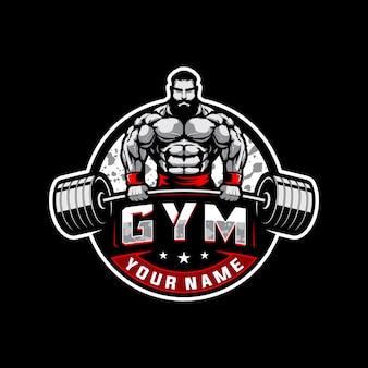 Bodybuilding en sportschoollogo