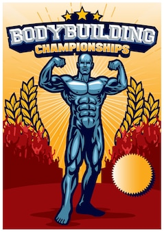 Bodybuilding evenement poster