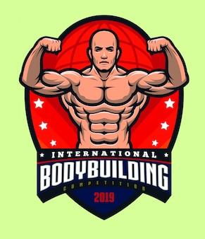 Bodybuilding logo sjabloon
