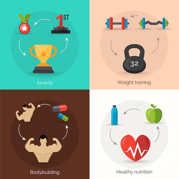 Bodybuilding vlakke set