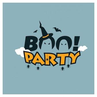 Boe-geroep halloween party creative typografie