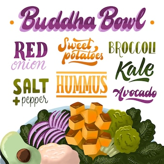 Boeddha kom recept concept