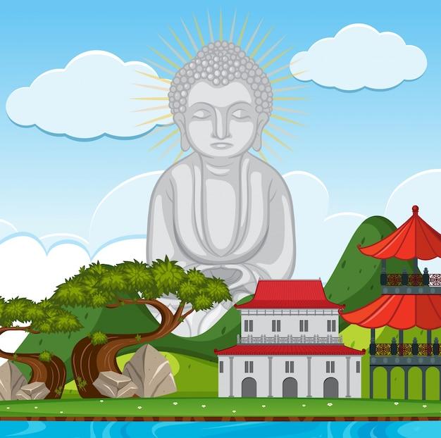Boeddhabeeld bij de tempel