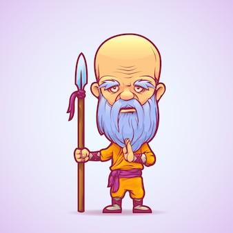 Boeddhistische krijger monnik