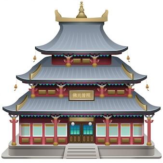 Boeddhistische tempel gevel