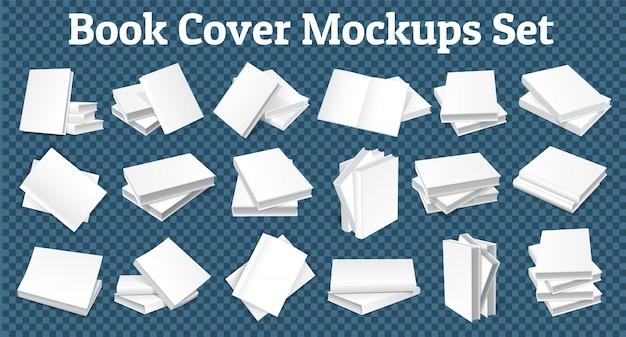 Boek cover mockups set