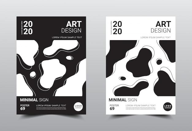 Boek creatieve minimale ontwerpsjabloon.