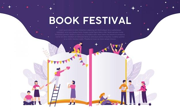 Boek festival sjabloon